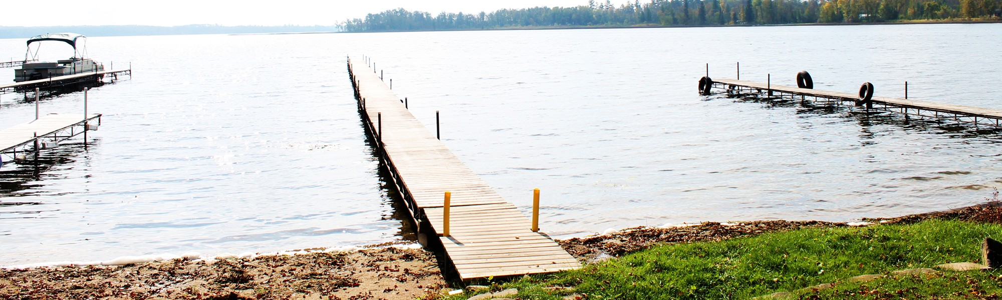 Docks on Lake Shore